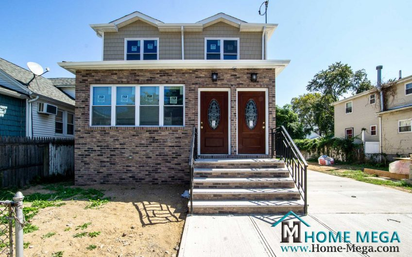 Two Family Home For Sale in Rosedale, Queens NY 11413. Brand NEW Detached Two Family on a GIANT 4,000 sq.f LOT!!